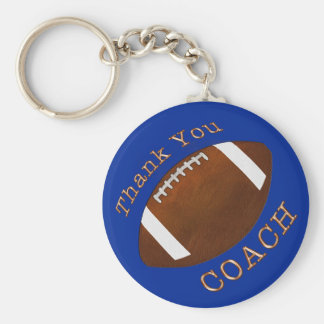 Cheap Thank You Football Coach Gifts, YOUR COLOR Keychain