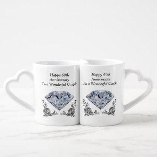 Cheap Unique Diamond Wedding Anniversary Gifts Coffee Mug Set