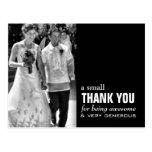 Cheap Wedding Thank You Card - Photo Funny! Post Card