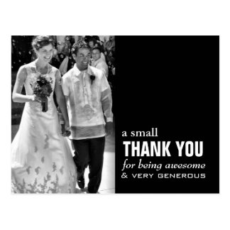 Cheap Wedding Thank You Card - Photo Funny! Postcard