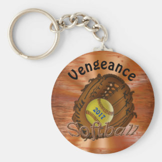Cheap Year and Your Team Name Softball Keychains