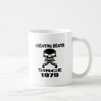 Cheating Death Since 1979 Birthday Designs Coffee Mug