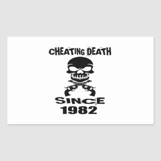 Cheating Death Since 1982 Birthday Designs Sticker