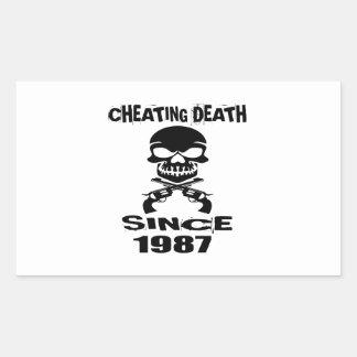 Cheating Death Since 1987 Birthday Designs Sticker