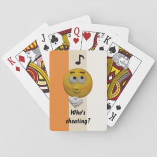 Cheating Emoticon Playing cards Template