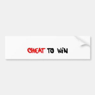 CHEATtoWIN.png Bumper Sticker