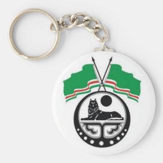 Chechnya Basic Round Button Keychain