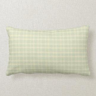 Check Celery and Cream Indoor Lumbar Pillow