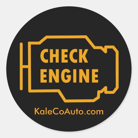 Check Engine Sticker