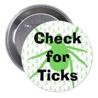 Check for Ticks Lyme Disease Awareness Button