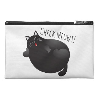 Check me out funny fat cat travel accessories bags