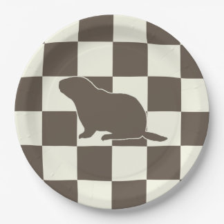 Check Me Out Groundhog Day Party Paper Plate 9 Inch Paper Plate