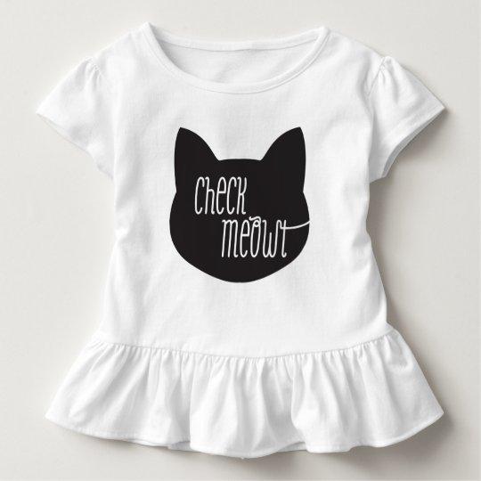 Check Meowt Cat T-shit Toddler T-shirt
