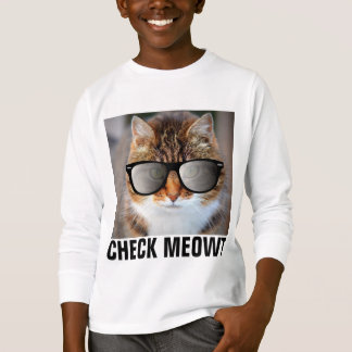 CHECK MEOWT CAT with Sunglasses, Boys Kids T-Shirt