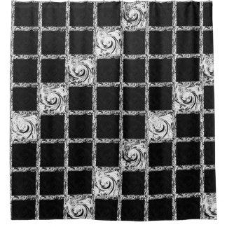 check pattern black  white