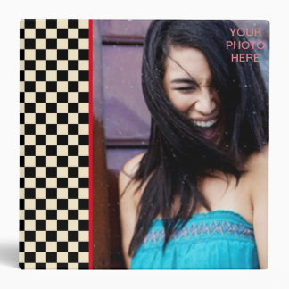 Check Squares INSERT PHOTO (Size Options) - 3 Ring Binder