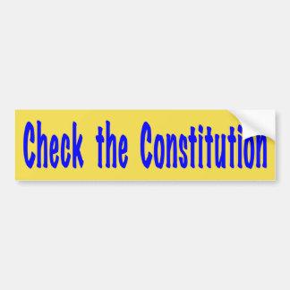 Check the Constitution Bumper Sticker