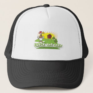 check the farm logo trucker hat
