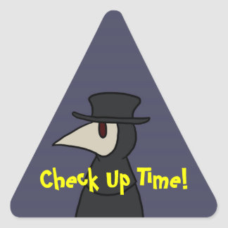 Check Up Time! Triangle Sticker