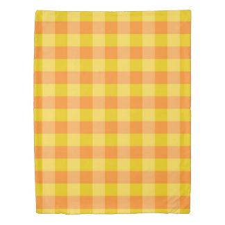 Checked Pattern Duvet Cover