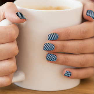 Checker background design minx nail art