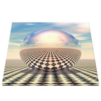 Checker Ball Canvas Print