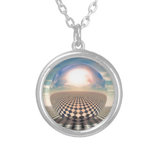 Checker Ball Silver Plated Necklace
