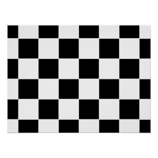 Checker Board Poster