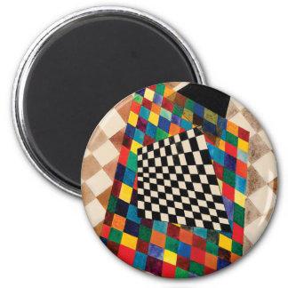 Checker by Wassily Kandinsky Magnet