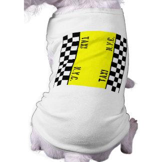 Checker Cab Taxi Design Pet Shirt