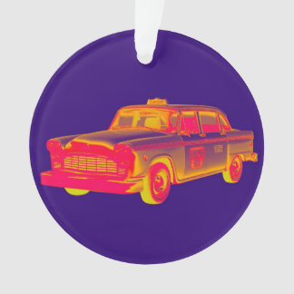 Checker Cab Taxi Pop Art Ornament