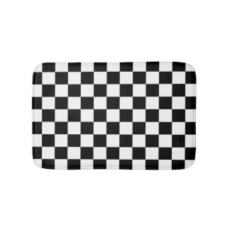 Checker  Flag Bath Mat