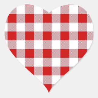 Checker Picnic Cloth Heart Sticker