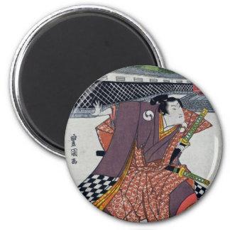 Checker Samurai Magnet