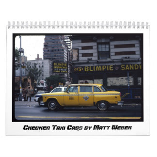 Checker Taxi Cabs by Matt Weber Calendars