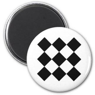 Checkerboard 2 Inch Round Magnet