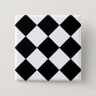 Checkerboard 2 Inch Square Button