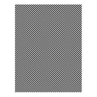 CHECKERBOARD! (a black & white pattern design) ~ Postcard