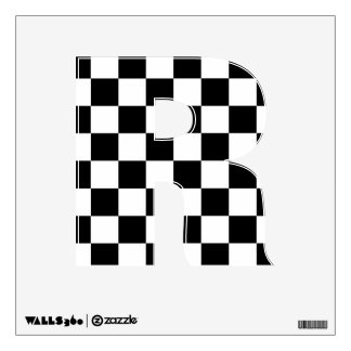 Checkerboard Black and White Racing Wall Decal