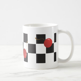 Checkerboard Cherries Coffee Mug