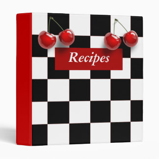Checkerboard Cherries Recipe Binder