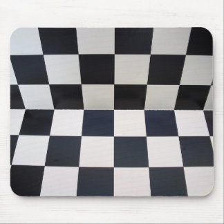 Checkerboard Chess Background Mouse Pad