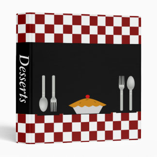 Checkerboard Dessert Recipe Binder