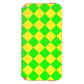CHECKERBOARD GREEN! ~ INCIPIO WATSON™ iPhone 6 WALLET CASE