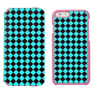 CHECKERBOARD IN BLUE ~ INCIPIO WATSON™ iPhone 6 WALLET CASE