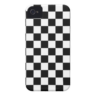 Checkerboard iPhone 4/4s Case in Black and White