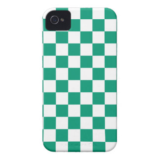 Checkerboard iPhone 4/4s Case in Emerald Green