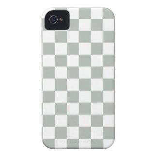 Checkerboard iPhone 4/4s Case in Silver Gray