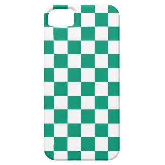 Checkerboard iPhone 5 Case in Emerald Green