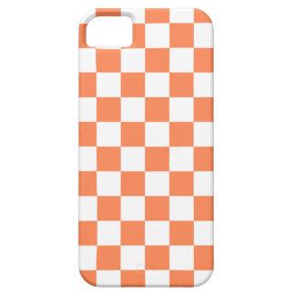 Checkerboard iPhone 5 Case in Nectarine Orange